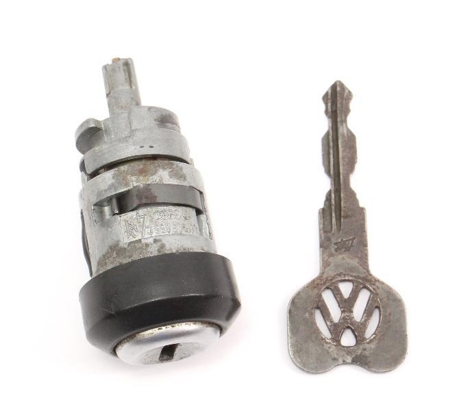 Ignition Cylinder & Key 75-88 VW Rabbit Jetta Golf GTI MK1 MK2 - 411 905 855 C