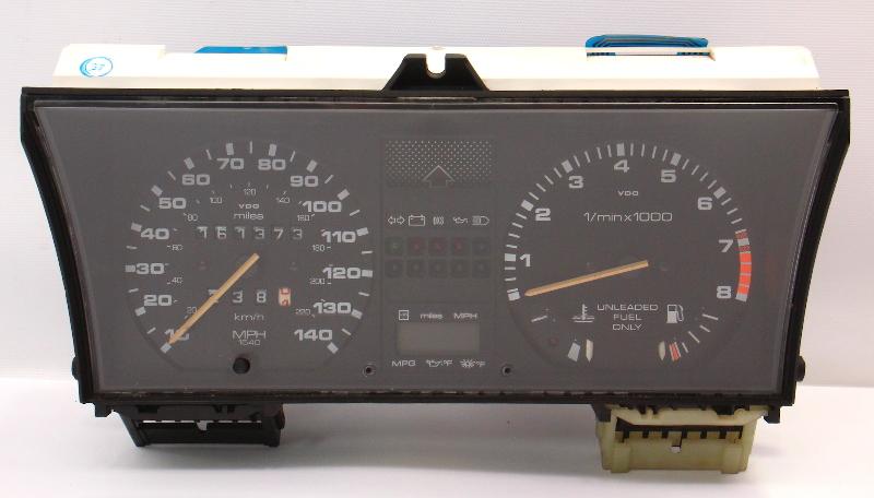 Gauge Cluster Speedometer Tach 85-89 VW GTI GLI 16v MK2 MFA 140MPH 191 919 059 E