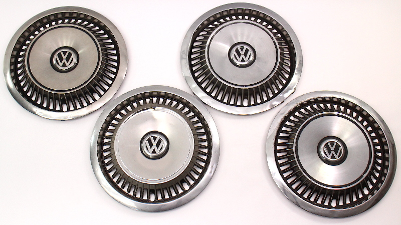 "Metal 13"" Hub Cap Wheel Set VW Jetta Golf Rabbit Pickup MK1 MK2 - 175 601 155 A"