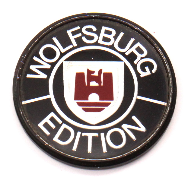 Wolfsburg Edition Emblem Badge VW Cabriolet MK1 Vanagon Jetta - 321 853 675 B