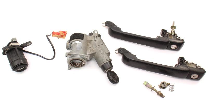 Ignition Door Handle Lock & Key Set 93-99 VW Golf GTI MK3 Genuine - 357 905 851