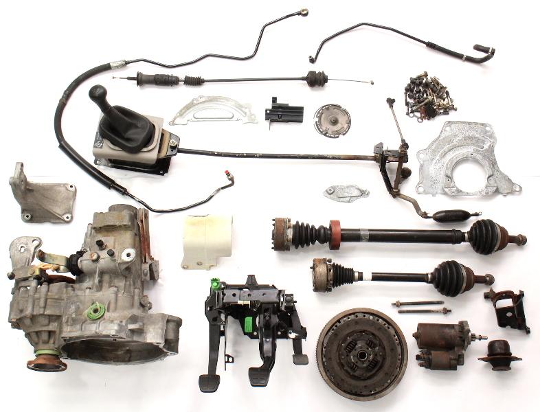 Manual Transmission Swap Parts Kit VW Jetta GTI Cabrio MK3 5 Speed 2.0 ABA DFQ