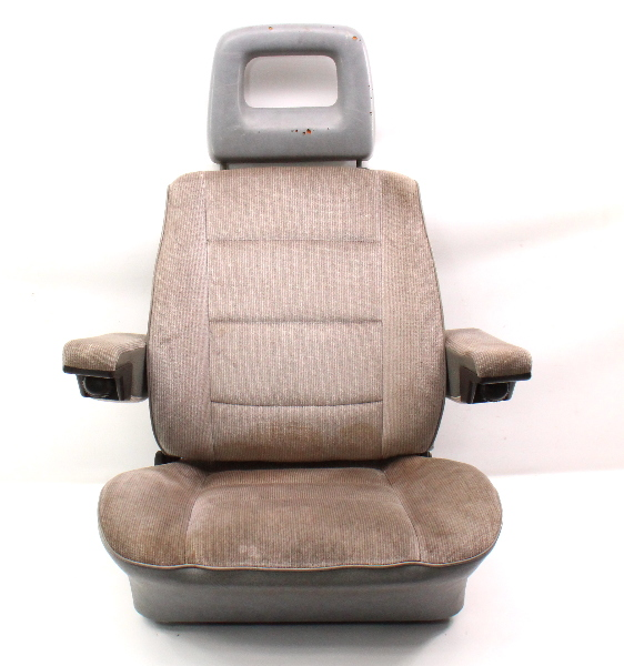 LH Front Grey Bucket Seat Captains Chair 80-91 VW Vanagon T3 Transporter