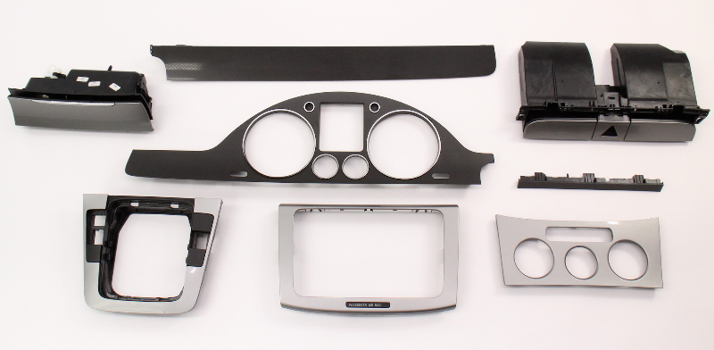 Brushed Silver Interior Dash Trim Set 06-10 VW Passat B6 - Genuine