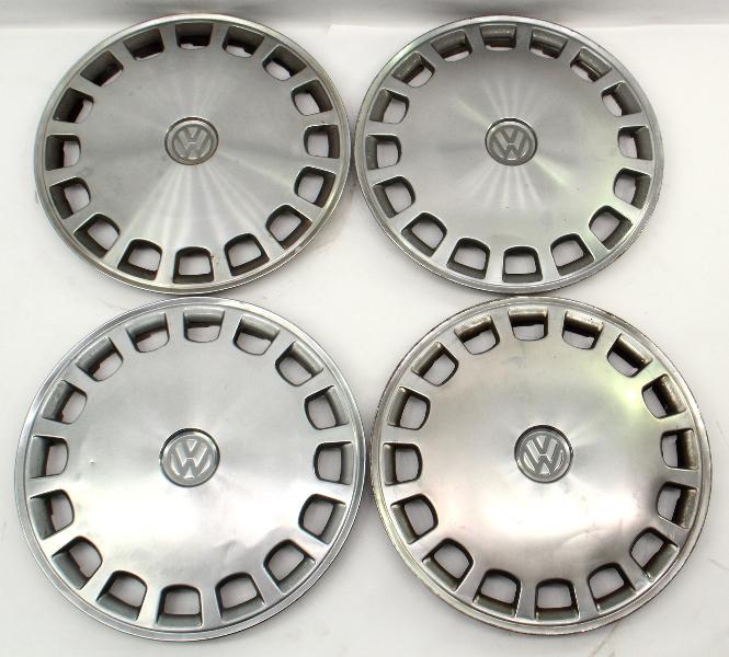 "Genuine VW Metal 13"" Hub Cap Wheel Covers Set VW Jetta Golf Rabbit Mk1 MK2 -"