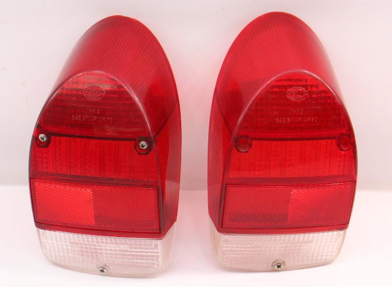 RH Tail Light Lamp Lens Set 71-72 VW Beetle Bug Aircooled - Genuine Hella