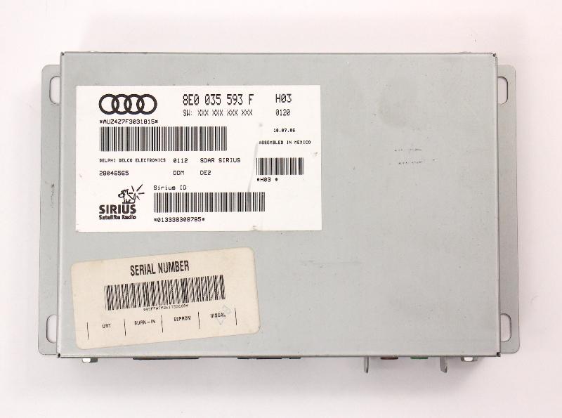 Sirius XM Radio Tuner Module VW Rabbit MK5 Passat Audi A3 A4 A6 - 8E0 035 593 F
