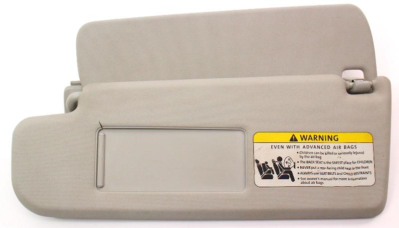 LH Driver Sun Visor Sunvisor 06-10 VW Passat B6 Grey - Genuine