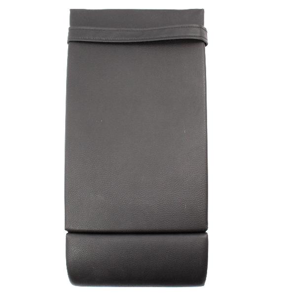 Rear Seat Arm Rest Ski Pass Cup Holder Armrest 06-10 VW Passat B6 Black Pleather