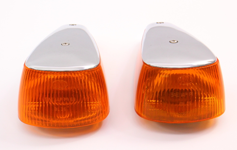 2 Fender Turn Signal Light Lens 70-79 VW Super Beetle Aircooled Genuine Hassia