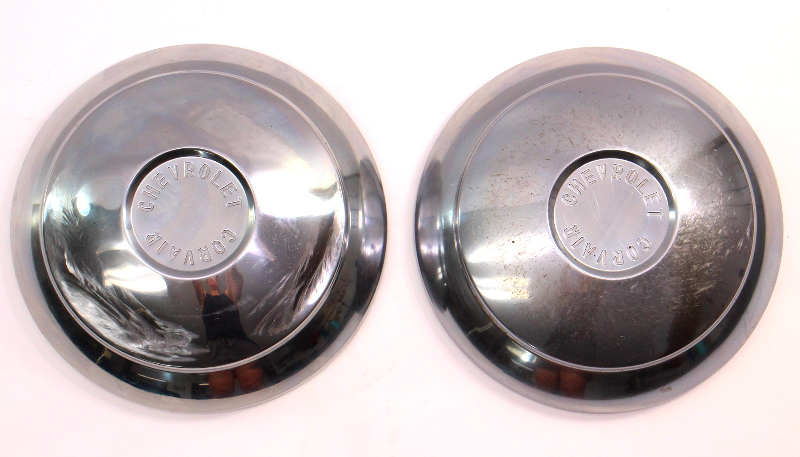 1960 Chevrolet Corvair Monza Dish Hubcap Hub Cap Set of Two