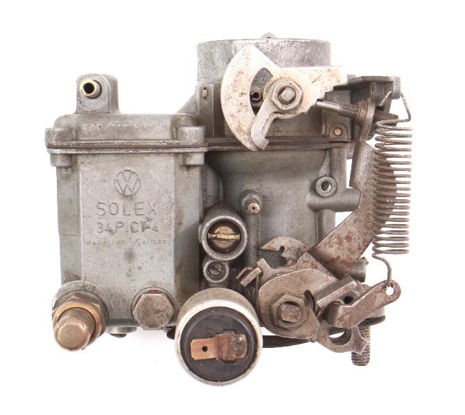 34PICT-4 Solex Carburetor 1974 VW Beetle Bug Aircooled Dual Port California Reman