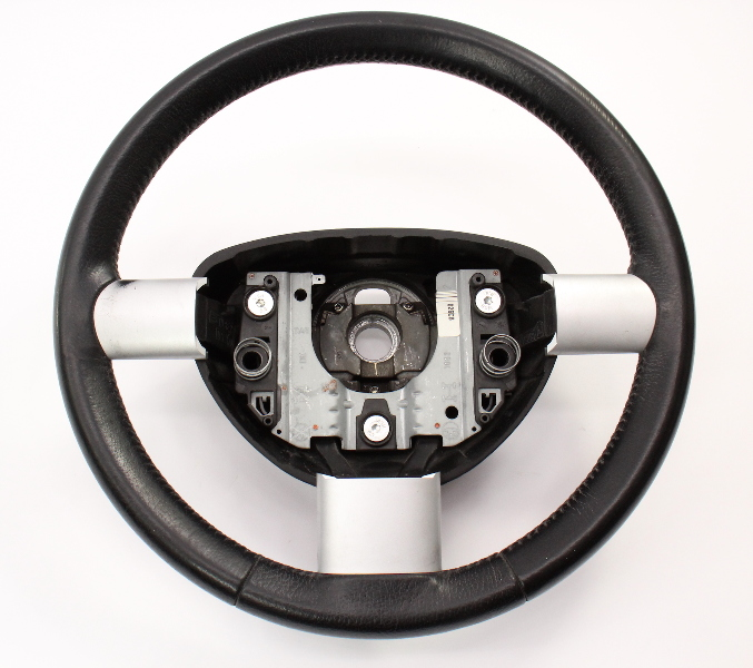 Black Leather Steering Wheel 98-10 VW New Beetle ~ Genuine ~