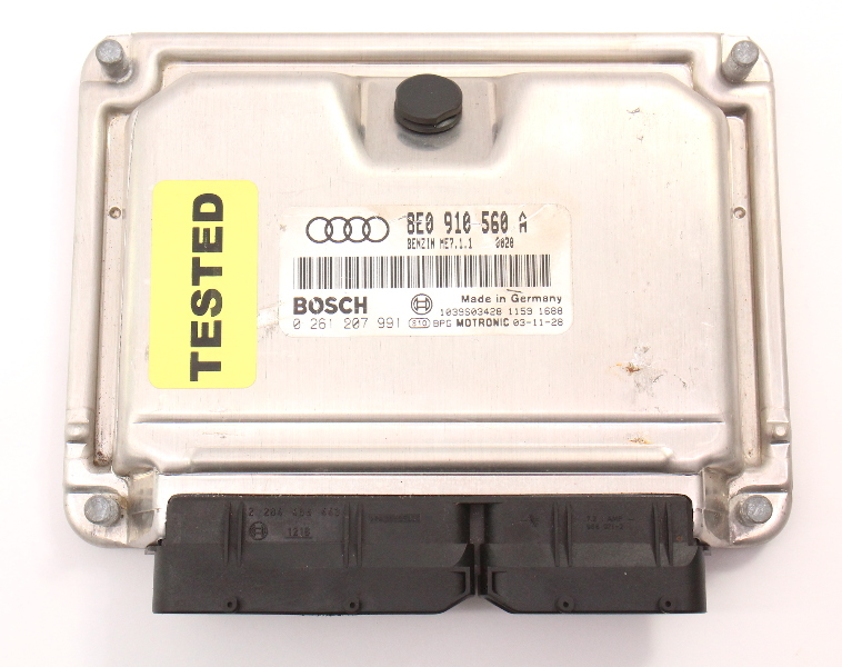 ECU ECM Engine Computer 2004 Audi S4 B6 MT - Genuine - 8E0 910 560 A