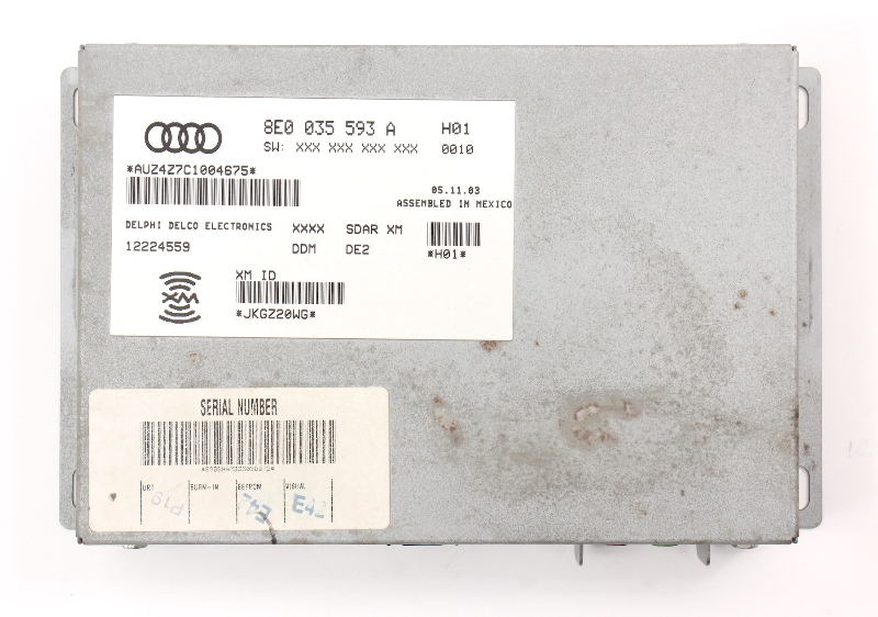Sirius XM Radio Tuner Module VW Rabbit MK5 Passat Audi A3 A4 S4 - 8E0 035 593 A