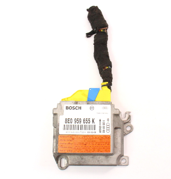 Airbag Computer Module & Pigtail 04-05 Audi A4 S4 B6 - 8E0 959 655 K