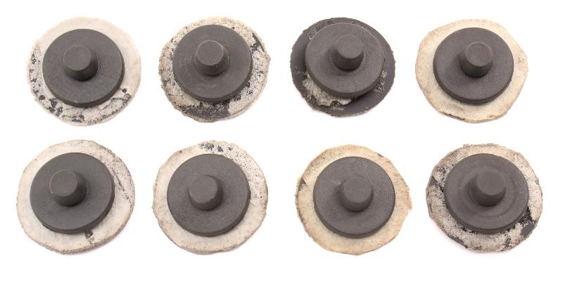 8x Floor Mat Retaining Retention Clips 02-08 Audi A4 S4 B6 B7 Black 3D0 864 227