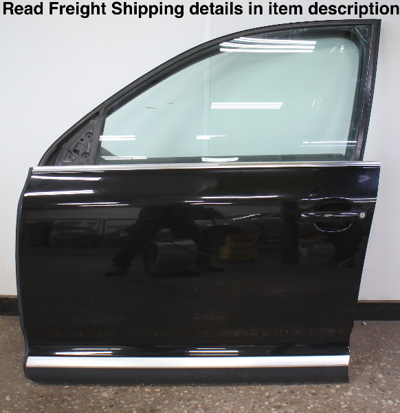 LH Front Complete Door Assembly 04-10 VW Touareg - L041 Black