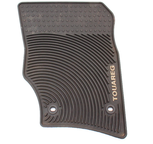 RH Front Rubber Monster Floor Mat All Weather 04-10 VW Touareg - Genuine