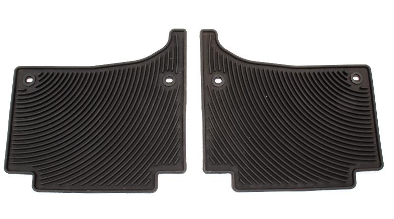 Rear Rubber Monster Floor Mats All Weather 04-10 VW Touareg - Genuine