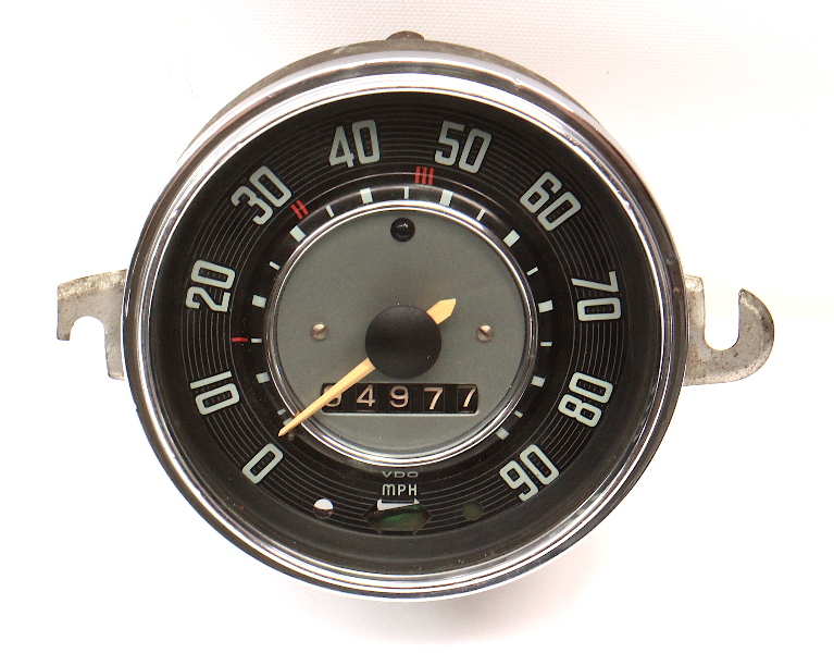 63-67 VW Beetle Bug Speedometer Gauge Cluster Vintage Aircooled 111 957 023 E