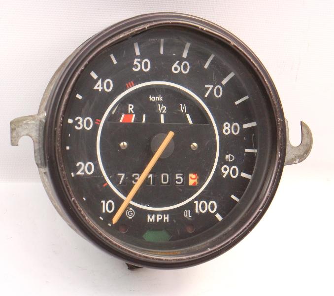72-74 VW Super Beetle Bug Speedometer Gauge Cluster Aircooled . 113 957 023 M .