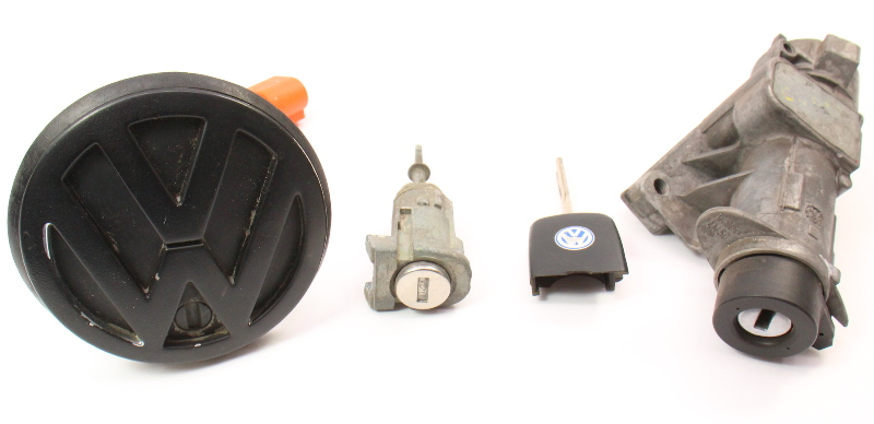 Lock Key Set Ignition Handle 99-05 VW Jetta Golf GTI MK4 Beetle - 4B0 905 851 C