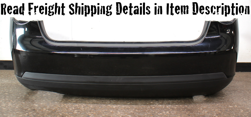 Rear Bumper Cover 05-10 VW Jetta MK5 Sedan L041 Black - Genuine
