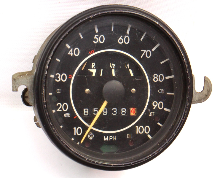 Speedometer Gauge Cluster 72-74 VW Beetle Bug Autostick Aircooled 113 957 023 L