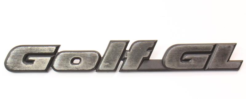 Emblem Badge Logo 85-92 VW Golf GL MK2 - Genuine - 191 853 687 L