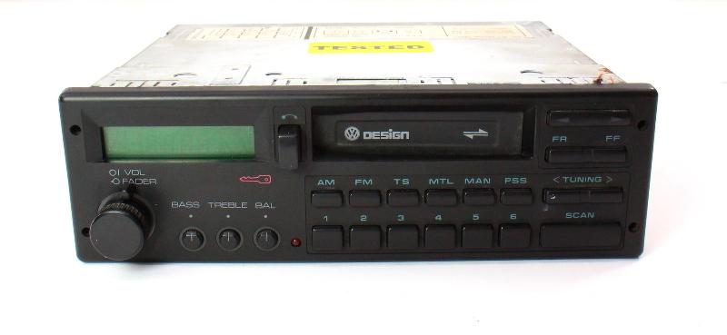 VW Design Tape Radio Head Unit 85-92 Jetta Golf MK2 Fox Passat / 000 035 188 CP