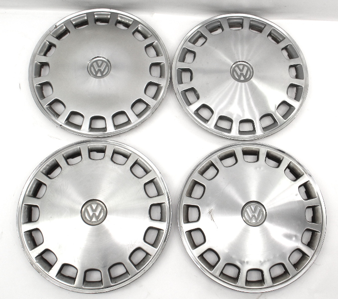 "Genuine 13"" VW Metal Hub Cap Wheel Set VW Jetta Golf Rabbit Pickup Mk1 MK2 Fox -"