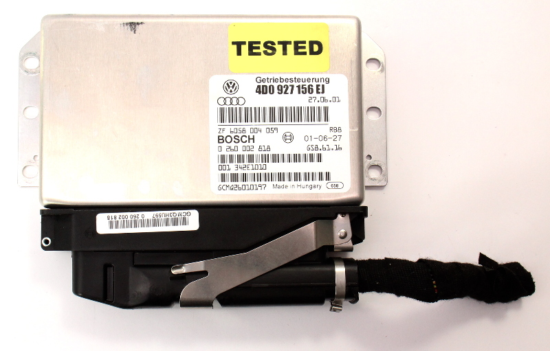 TCM Transmission Computer & Plug 02-03 Audi A8 S8 D2 - Genuine - 4D0 927 156 EJ