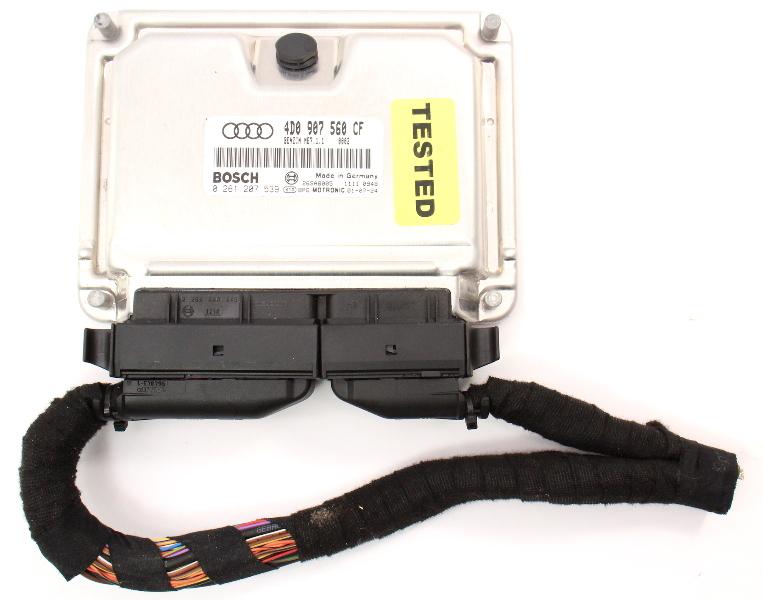 ECU ECM Engine Computer & Plugs 02-03 Audi A8 S8 D2 4.2 AUX- 4D0 907 560 CF