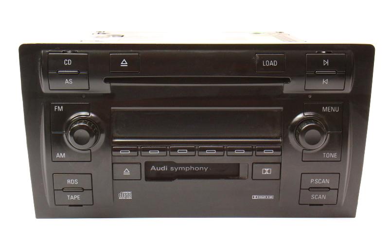 Symphony II Radio Head Unit CD Cassette 02-03 Audi A8 S8 - 4D0 035 195 J