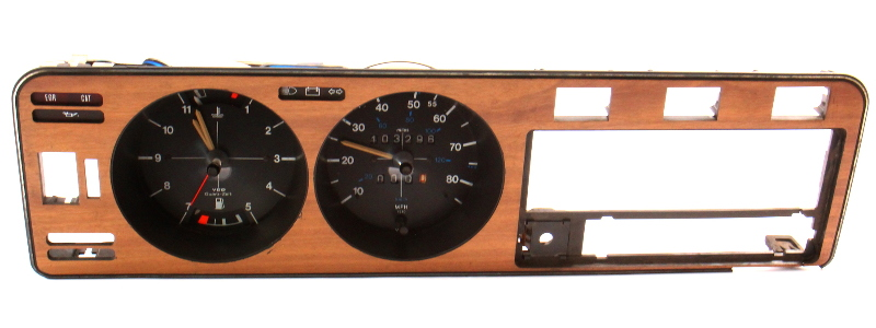 Early Dash Gauge Cluster Speedometer Wood Trim Panel 75-80 VW Rabbit MK1 Gas