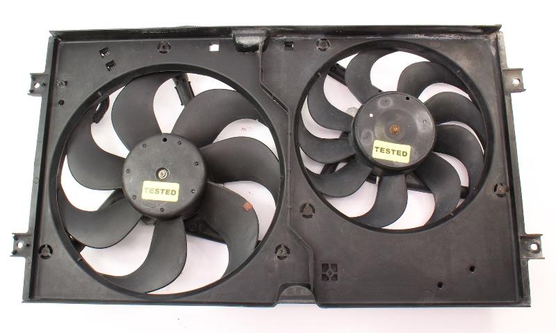 Engine Radiator Cooling Fans Shroud 98-05 VW New Beetle ~ 1C0 121 207 C ~