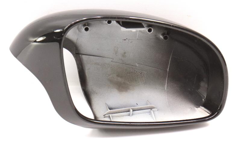 RH Exterior Side View Door Mirror Cap Shell 00-03 VW Beetle L041 Black - Genuine