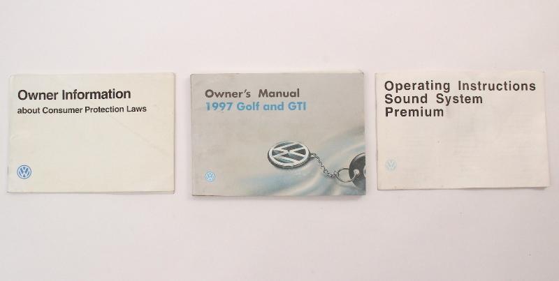 1997 Volkswagen VW Golf GTI MK3 Owners Manual Book - Genuine