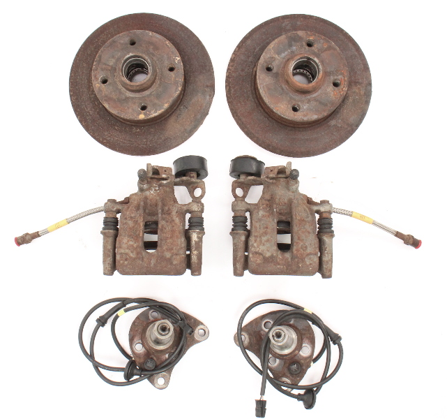 Rear Disc Brake Conversion Set 93-99 VW Jetta Golf GTI Cabrio MK3 ~ Genuine ~