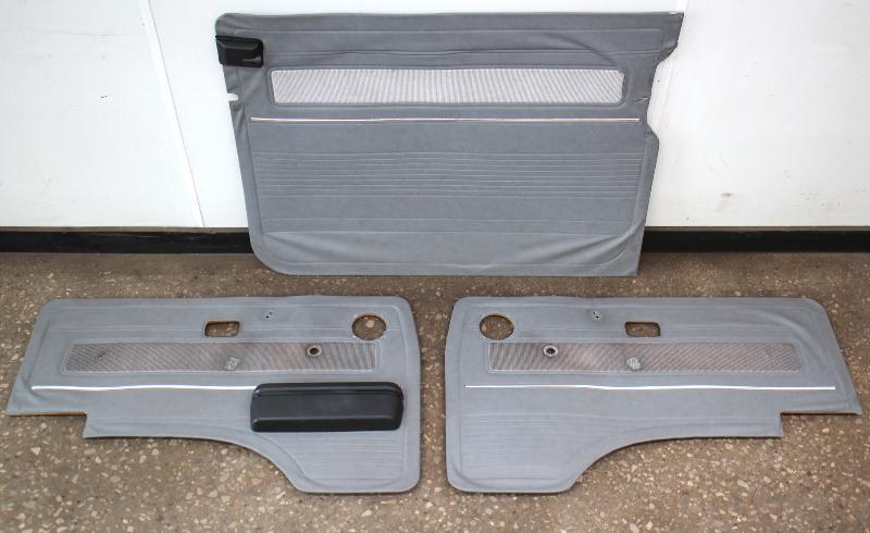 Grey Door Panel Card Set 86-91 VW Vanagon T3 Syncro Westfalia - Genuine