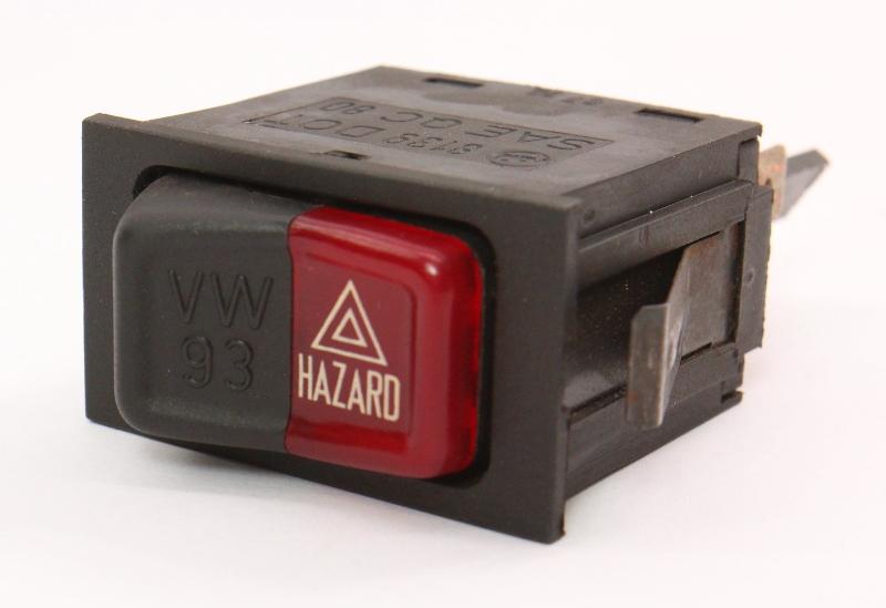 Hazard Lights Switch Button 80-84 VW Rabbit Jetta Cabriolet MK1 ~ 161 953 235 B