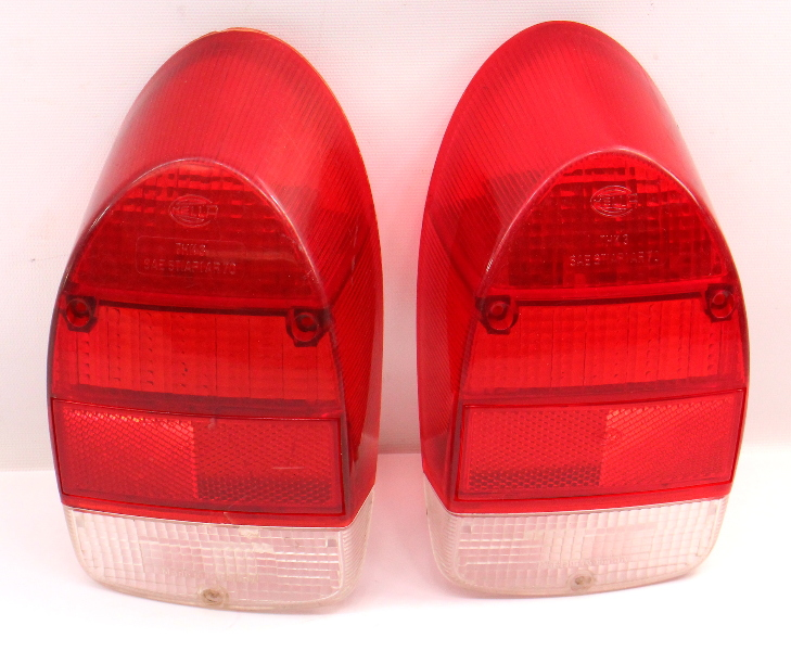 Tail Light Lamp Lens Set 71-72 VW Beetle Bug Aircooled - Genuine Hella