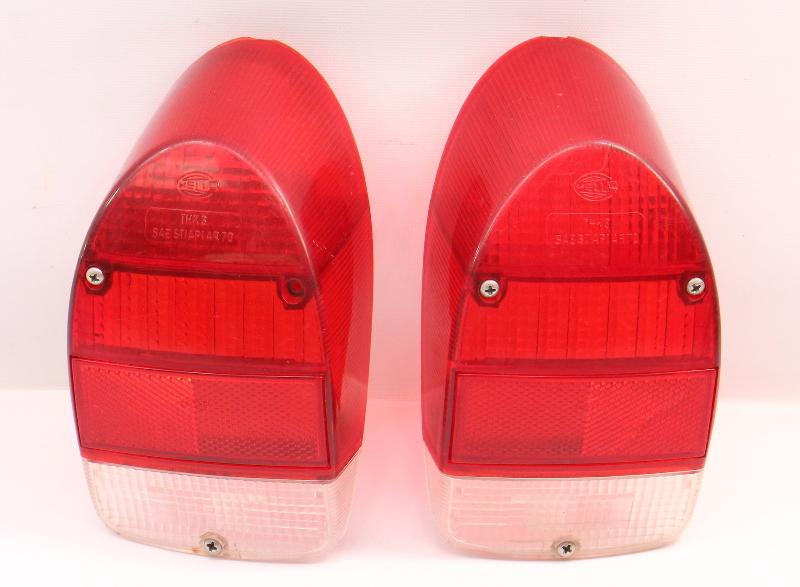 Tail Light Lamp Lens Set 71-72 VW Beetle Bug Aircooled ~ Genuine Hella
