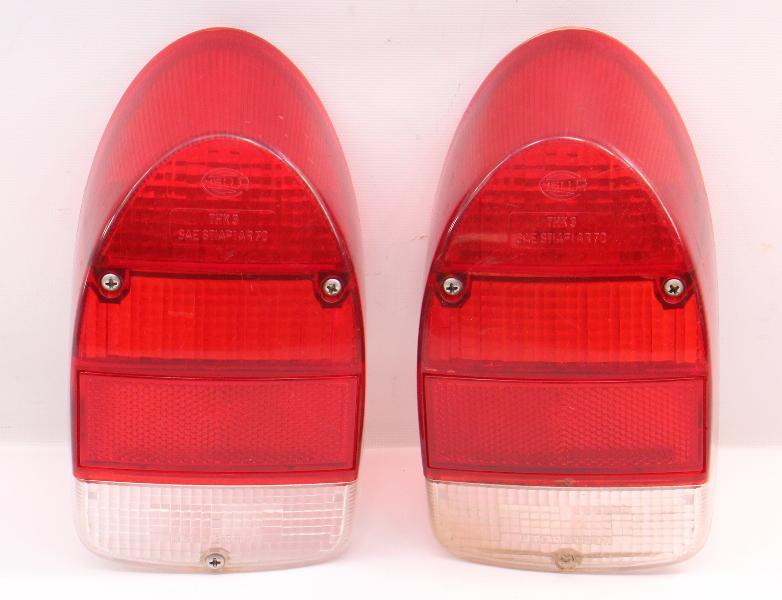 Tail Light Lamp Lens Set 71-72 VW Beetle Bug Aircooled ~ Genuine VW Hella