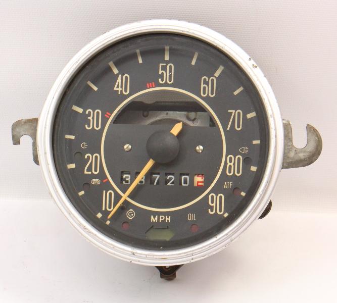 71-72 VW Beetle Bug Speedometer Gauge Cluster Vintage Aircooled 113 957 023 E