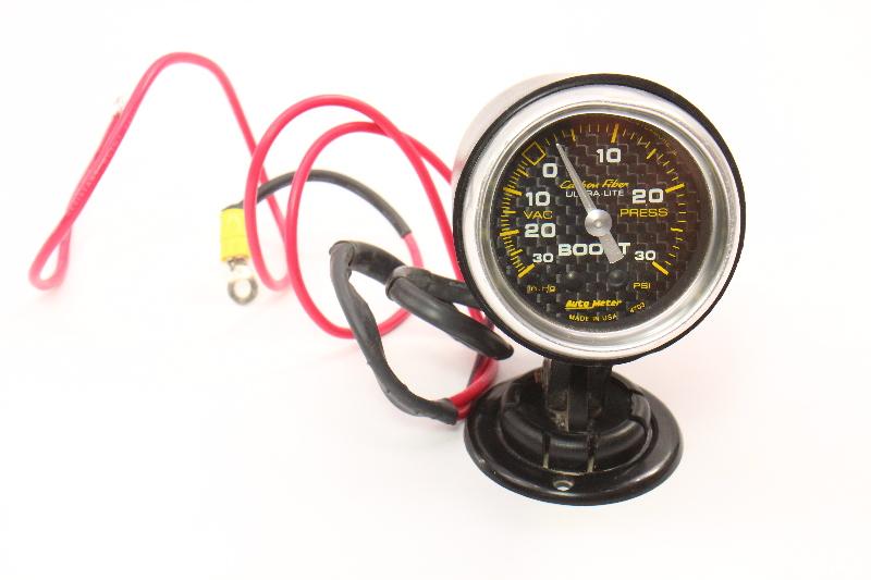 Auto Meter Carbon Fiber Ultra-Lite Analog Boost/Vacuum Gauge 4701