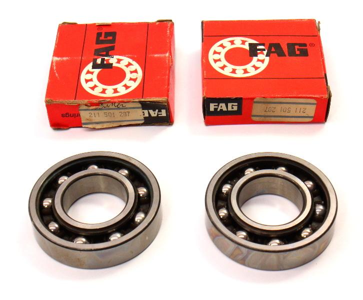 NOS Rear Inner Wheel Bearings Vanagon Transporter Bus Subaru FAG - 211 501 287