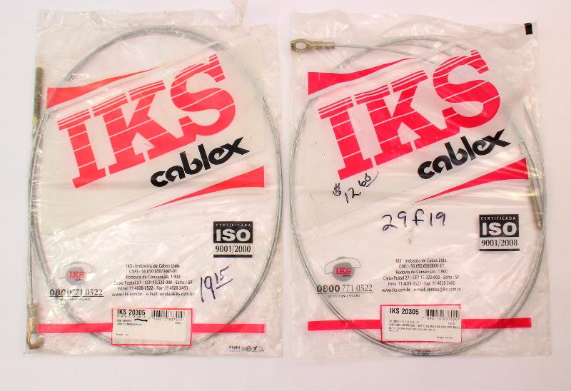 2x NOS Clutch Cables 72-74 VW Beetle Bug Ghia IKS Cablex - 111 721 335 C