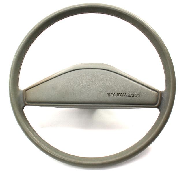 Grey Original Steering Wheel & Horn Pad 80-84 VW Rabbit Jetta Pickup MK1 Genuine